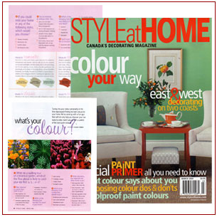 Sylvia O'Brien's article on colour Style at Home