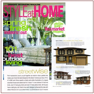 Article on Colour Theory in Style at Home magazine
