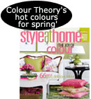 Sylvi'a article on colour in Style at Home magazine